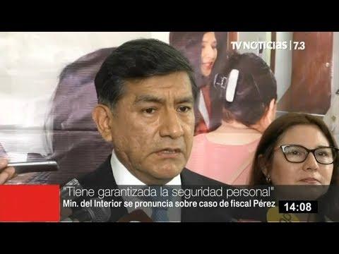 Ministro del Interior: Gobierno garantiza seguridad del fiscal José Domingo Pérez