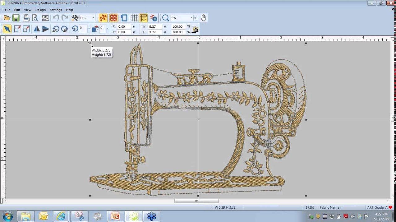Bernina Embroidery Tool Tip Transferring Designs Youtube