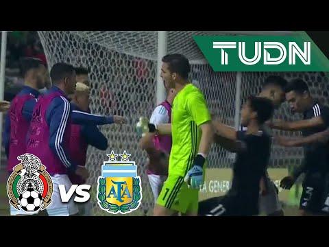¡Se armó la bronca en la recta final! | México 2 - 2 Argentina | Amistoso Sub 22 | TUDN