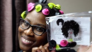4c NATURAL HAIR STYLING | Low Manipulation | Easy Roller Set