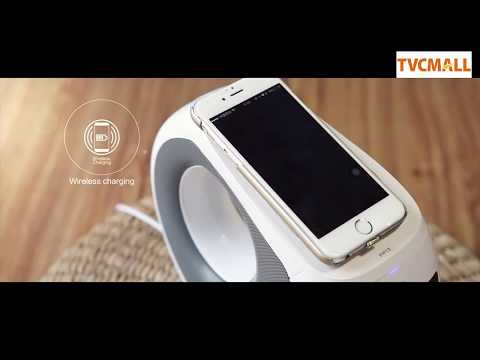 2-in-1 Wireless Bluetooth Speaker + Qi Wireless Charger with Mic and NFC Function for iPhone Samsung