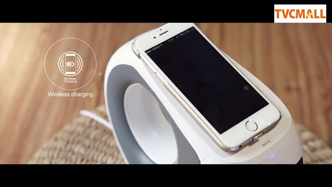 2 In 1 Wireless Bluetooth Speaker Qi Wireless Charger With Mic And Nfc Function For Iphone Samsung Youtube