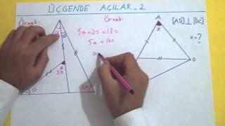 Üçgende Açılar 2 Şenol Hoca Matematik