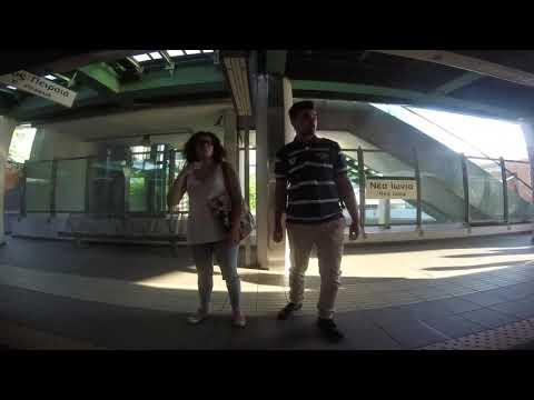Walking in Athens, Greece ΗΣΑΠ - Από το παράθυρο του τρένου