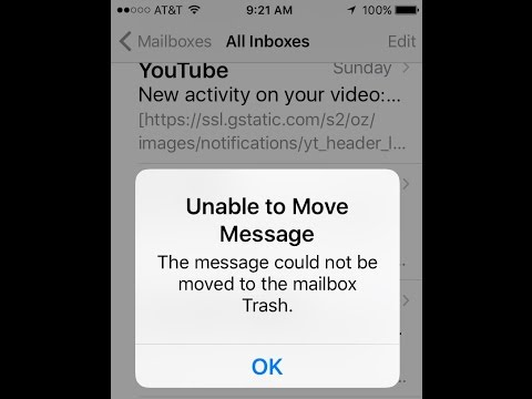 Unable To Move Message The Message Could Not Be Moved To The Mailbox Trash IOS 10