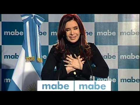 23 De JUL. Inauguración Nueva Fábrica De Lavarropas Mabe. Cristina Fernández