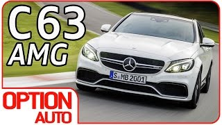 ★ New Mercedes C63 S AMG • 510 HP on Racetrack (Option Auto)