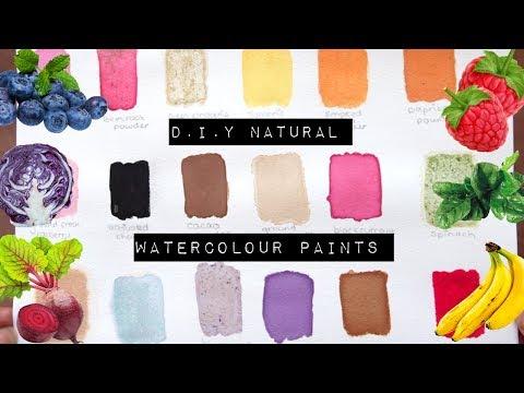 D.I.Y Natural Watercolour Paints
