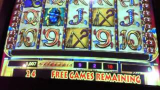 Cleopatra $1 slot with re-trigger and handpay (Coushatta high limit area)