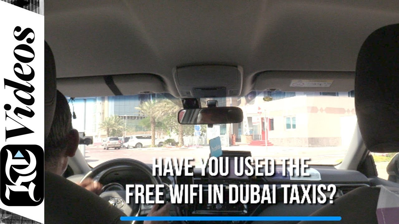 Have you used the free WiFi in Dubai taxis?