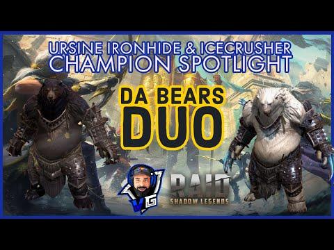 Raid Shadow Legends Ursine Ironhide & Icecrusher Build and Guide