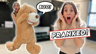 GIANT TEDDY BEAR PRANK ON MOM! *ANGRY REACTION!