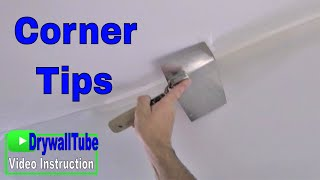 Do inside drywall corners like a pro with the drywall corner tool