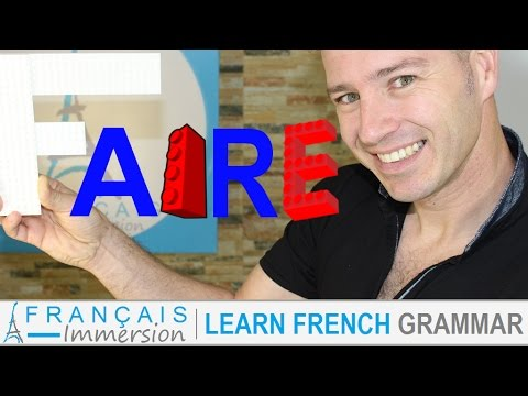 FAIRE Conjugation & Meaning (to do/make) present tense + FUN! (Learn French Verbs with Fun)