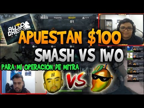 SMASH VS IWO EN AUTO CHESS APUESTAN 100 DOLARES!! | DOTA 2