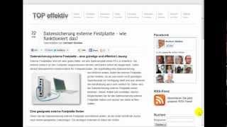 Datensicherung externe Festplatte - wie funktioniert das?