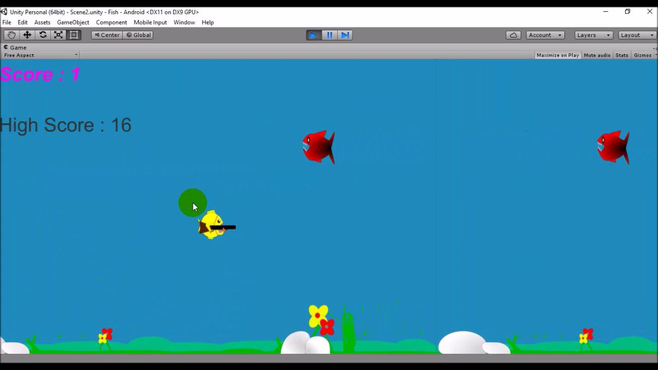 Intro To Simple 2d Game With Unity Unity Tutorial Youtube
