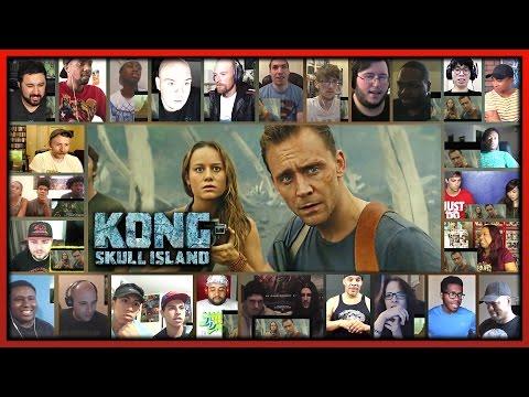 KONG: SKULL ISLAND Comic-Con Trailer Reaction's Mashup (31 People)