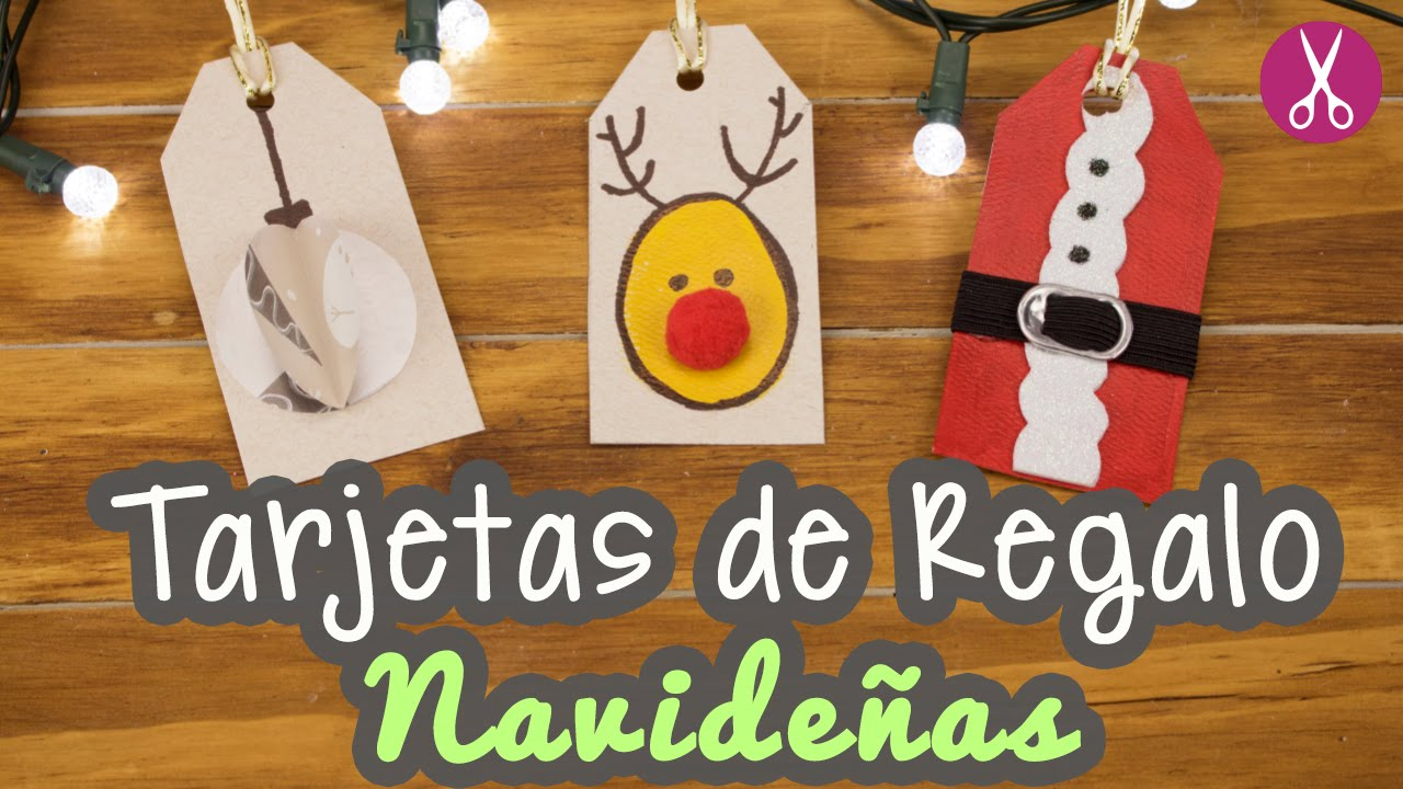 Manualidades Para Navidad Tarjetas De Navidad 3 Ideas Etiquetas - Ideas-para-tarjetas-de-navidad