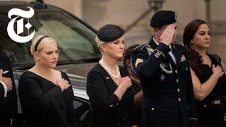 John McCain's Memorial: Meghan McCain, Barack Obama and George W. Bush Speak   NYT News