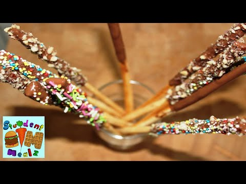 How To Make Pocky Sticks | Mikado (Chocolate Sticks) || Student Mealz