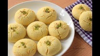बाज़ार जैसी खस्तेदार नानखटाई कढ़ाई या ओवन में आसानी से बनाये   Nankhatai Cookies Recipe   Recipeana