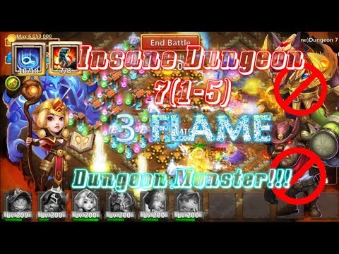 DUNGEON MONSTER ESPIRITA! 3flame Dungeon 7(1-5) Without Anubis And Mino - Castle Clash