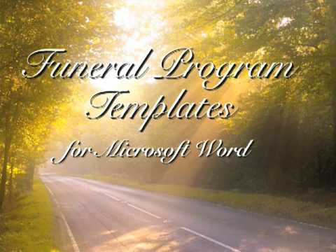 Free Funeral Program Template - Funeral Programs - YouTube - free template for funeral program