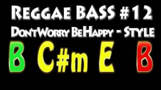Reggae Bass Backing Track #12 Don't Worry Be Happy Style