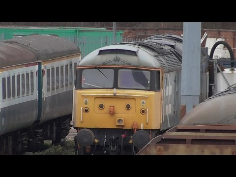 Trains at Leicester LIP Depot on 19/02/2017