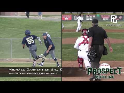 Michael Carpentier Jr  Prospect Video, C, Yucaipa High School Class of 2019