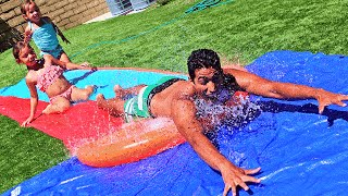 We Made an EXTREME Water Slide!