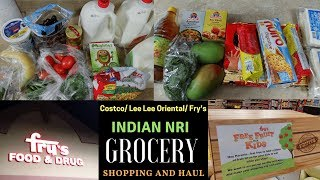 All About Indian NRI Monthly Grocery Shopping |Costco/ Lee Lee Oriental/ Fry