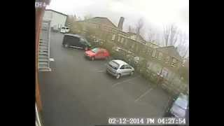 CCTV Footage: Wind rips roof off Shropshire council building