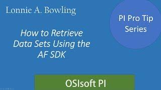 بي نصيحة #1 - الحصول على مجموعات البيانات باستخدام AF SDK