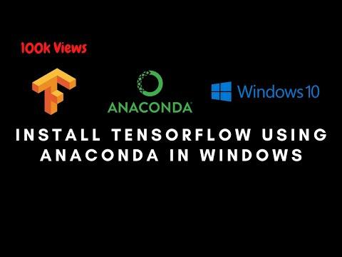 Как установить tensorflow в anaconda