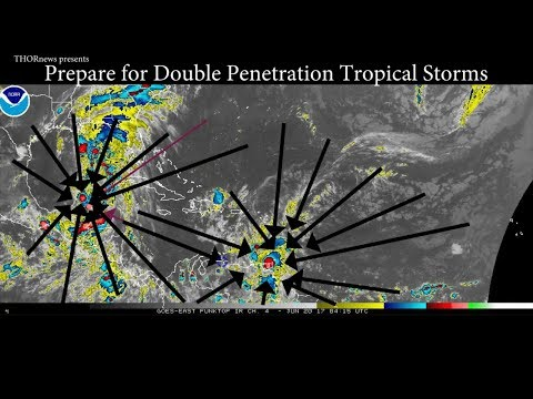 PREPARE! Gulf Coast USA might get Double Penetrated by Tropical Storm Cindy & Bret