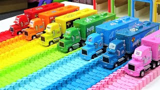 Learn Colors with Disney Cars Mack Truck Hauler Colors for Children