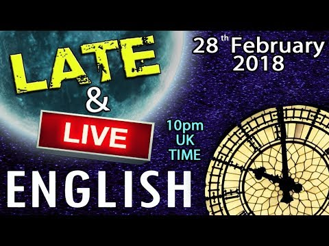 LATE & LIVE ENGLISH - 10pm UK time - Snow - Shops Closing Down - Favourite Season