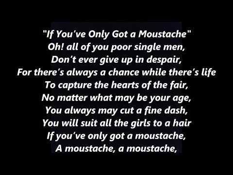 If You've Only Got a Moustache Mustache STEPHEN FOSTER LYRICS WORDS BEST TOP