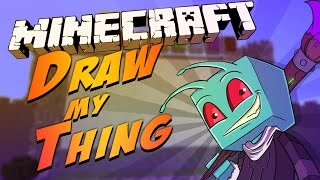 Minecraft Mini-Game : Draw My Thing - CANT READ !