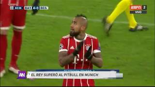 Duelo Arturo Vidal contra Gary Medel en Champions League - Bayern Munich vs Besiktas