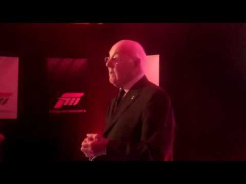 VVV Gamer attend the Forza 3 UK launch party hosted by Murray Walker