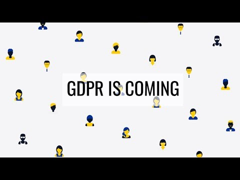 Are you ready for GDPR? General Data Protection Regulation is coming soon in 2018.