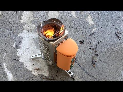 biolite wood burning campstove review and burn test youtube. Black Bedroom Furniture Sets. Home Design Ideas