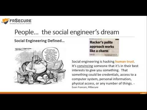 On Demand Webinar: IT Security - People...the Social Enginee