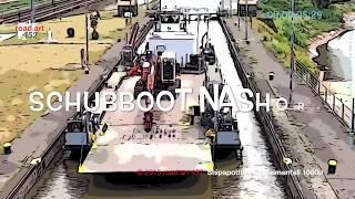 Schubboot Nashorn mit Decksprahm DP 1778. Shipspotting de dibujos animados feat. Las Cebollas Verdes. Nave Clip De 145