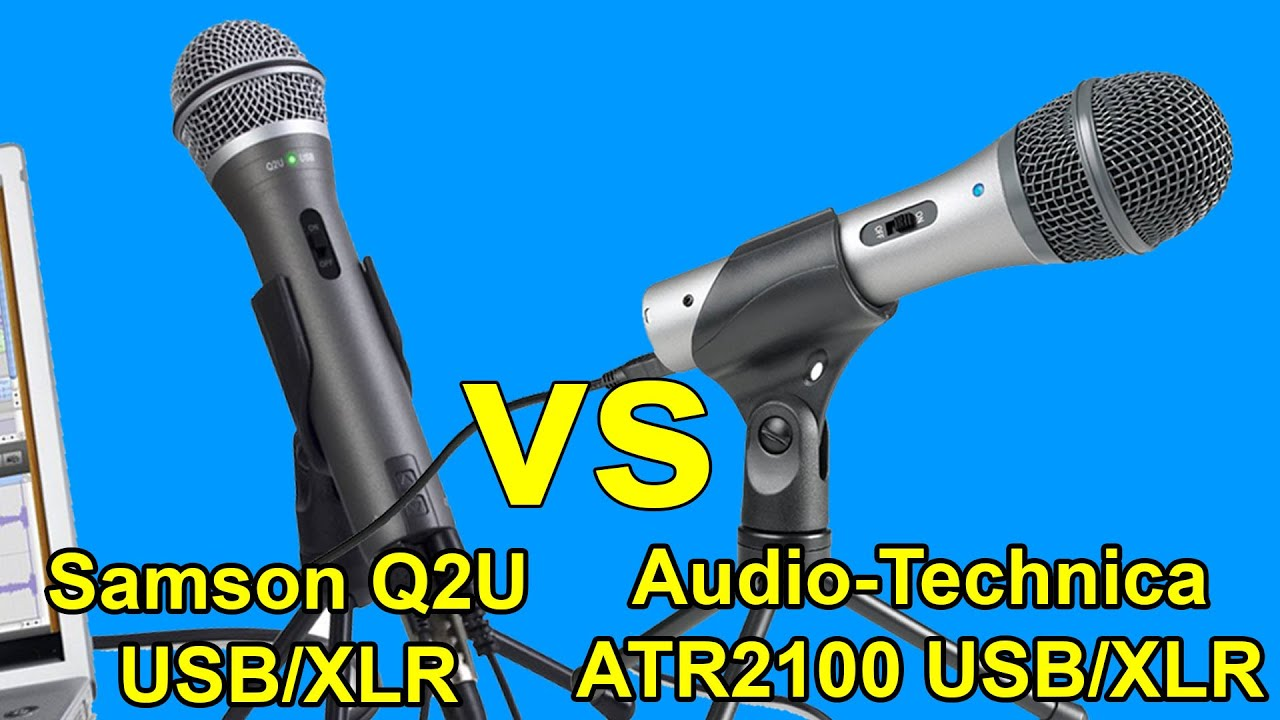samson q2u vs audio technica atr2100 usb microphones which one is the best entry level mic. Black Bedroom Furniture Sets. Home Design Ideas