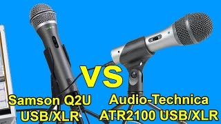 Samson Q2U vs Audio Technica ATR2100 USB Microphones - Which One is the BEST Entry-Level Mic?