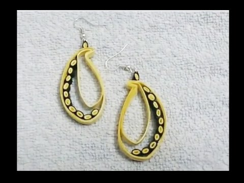 Quilling Paper Earrings Earrings Making With Paper Handicrafts